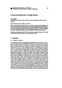 Composite Materials in Bridge Repair