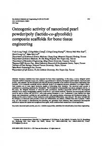 composite scaffolds for bone tissue engineering - IOS Press