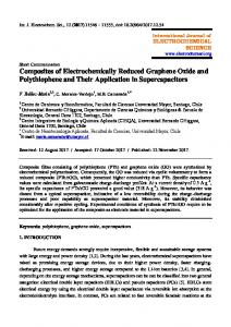 Composites of Electrochemically Reduced Graphene Oxide and