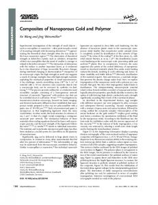 Composites of Nanoporous Gold and Polymer - Wiley Online Library