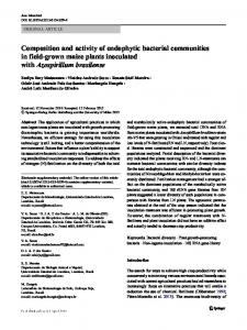 Composition and activity of endophytic bacterial