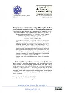 Composition and antimicrobial activity of the essential oil ... - CiteSeerX