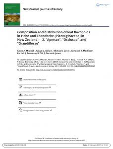 Composition and distribution of leaf flavonoids in