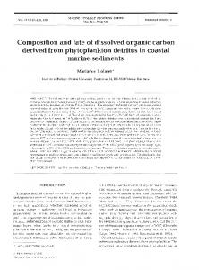 Composition and fate of dissolved organic carbon ... - Inter Research
