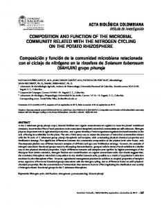 COMPOSITION AND FUNCTION OF THE MICROBIAL COMMUNITY ...