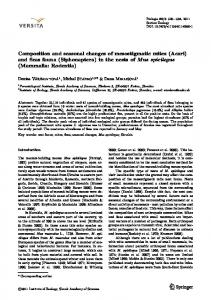 Composition and seasonal changes of mesostigmatic mites (Acari ...