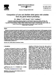 Composition of corn and distillers dried grains with ... - Semantic Scholar