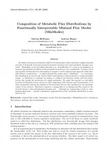 Composition of Metabolic Flux Distributions by