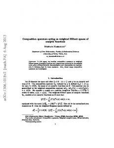 Composition operators acting on weighted Hilbert spaces of analytic ...