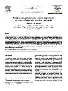 Composition, structure and thermal degradation of hemp cellulose ...