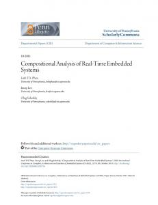Compositional Analysis of Real-Time Embedded ... - ScholarlyCommons