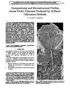 Compositional and Microstructural Profiles across