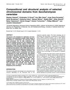 Compositional and structural analysis of selected ... - CiteSeerX