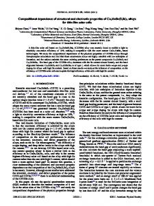 Compositional dependence of structural and electronic properties of ...