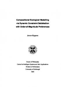 Compositional Ecological Modelling via Dynamic