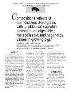 Compositional effects of corn distillers dried grains with solubles with ...