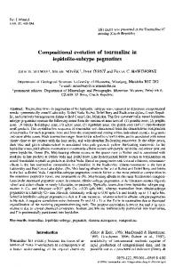 Compositional evolution of tourmaline in lepidolite ... - GeoScienceWorld