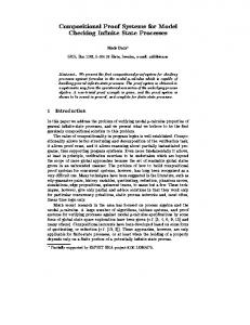 Compositional Proof Systems for Model Checking ... - Semantic Scholar