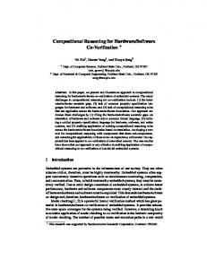 Compositional Reasoning for Hardware/Software ... - Semantic Scholar