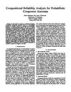 Compositional Reliability Analysis for Probabilistic Component Automata