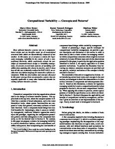 Compositional Variability - Concepts and Patterns - Semantic Scholar