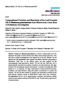 Compositional Variation and Bioactivity of the Leaf Essential ... - MDPI