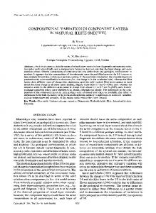 compositional variation in component layers in natural illite/smectite