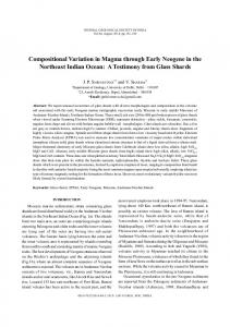 Compositional Variation in Magma through Early Neogene in the ...