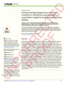 Compound heterozygous loss-of-function mutations in KIF20A ... - PLOS