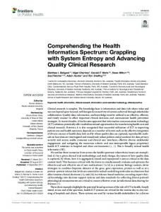 Comprehending the Health Informatics Spectrum - Semantic Scholar