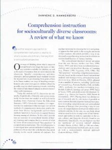Comprehension instruction for socioculturally diverse classrooms: A ...