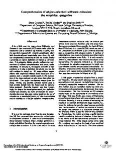 Comprehension of object-oriented software cohesion - Core