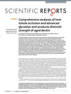 Comprehensive analyses of how tubule occlusion ... - Osaka University