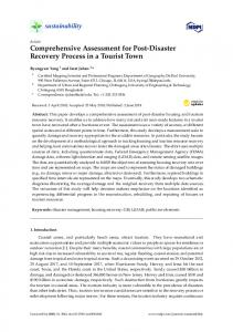 Comprehensive Assessment for Post-Disaster Recovery ... - MDPI
