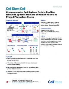 Comprehensive Cell Surface Protein Profiling