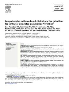 Comprehensive evidence-based clinical practice guidelines for ...