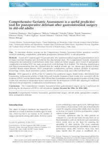 Comprehensive Geriatric Assessment is a ... - Wiley Online Library