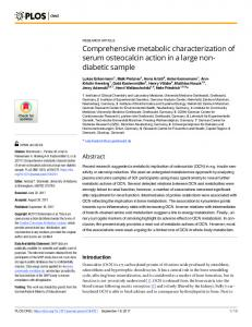 Comprehensive metabolic characterization of ... - Semantic Scholar