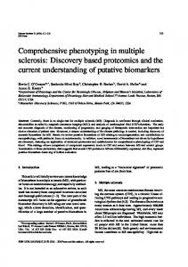 Comprehensive phenotyping in multiple sclerosis - BioMedSearch