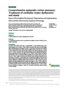 Comprehensive systematic review summary: Treatment of ... - Neurology