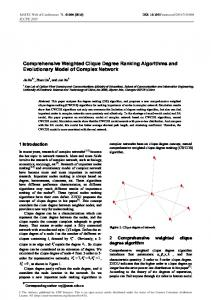 Comprehensive Weighted Clique Degree Ranking Algorithms and ...
