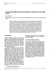 Compressed Natural Gas Technology for Alternative Fuel Power Plants