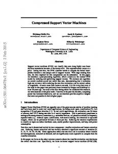 Compressed Support Vector Machines