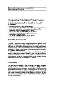 Compressing Probabilistic Prolog Programs - People.csail.mit.edu