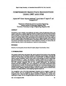 compression based face recognition using dwt ... - Aircc Digital Library