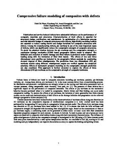 Compressive failure modeling of composites with