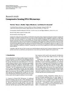 Compressive Sensing DNA Microarrays