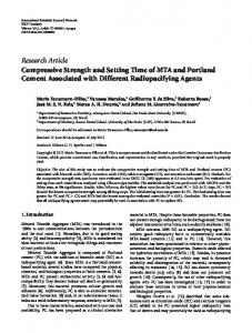 Compressive Strength and Setting Time of MTA and Portland Cement ...