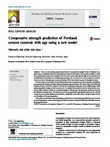 Compressive strength prediction of Portland cement ...