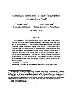 Compulsory Voting and TV News Consumption - Editorial Express
